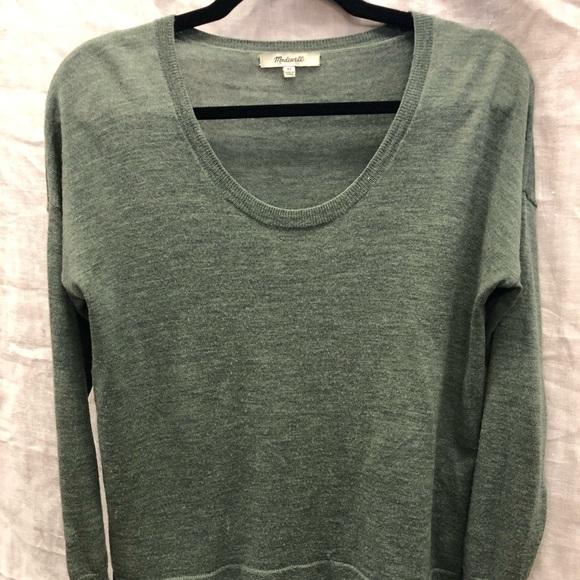 Madewell green light sweater